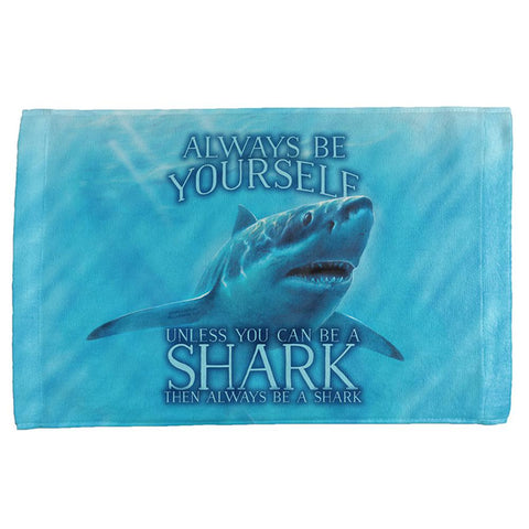 Always Be Yourself Unless Great White Shark All Over Hand Towel