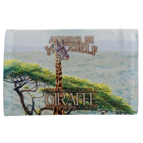 Always Be Yourself Unless Giraffe All Over Hand Towel