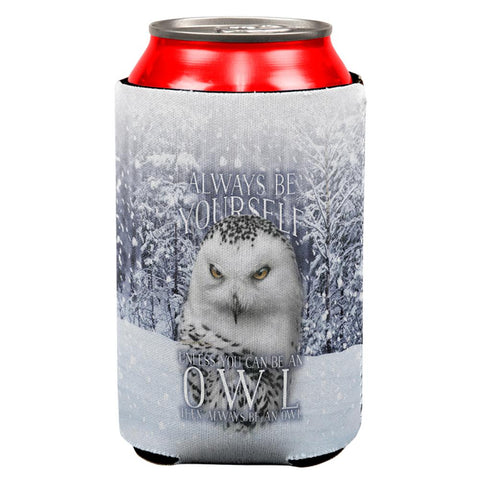 Always Be Yourself Unless Snowy Winter Owl All Over Can Cooler