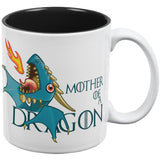 Mother of a Dragon Blue All Over Coffee Mug