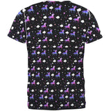 Galaxy Unicorn Pattern All Over Mens T Shirt