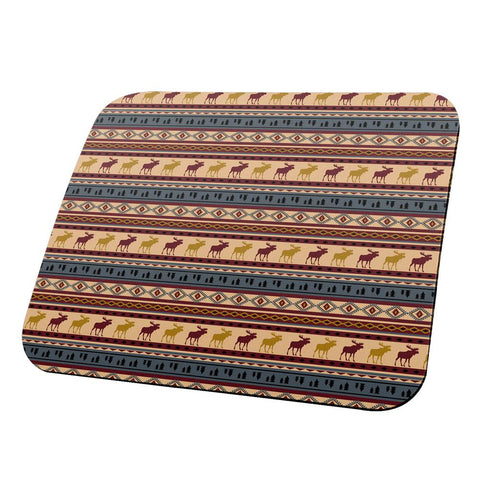 Autumn Moose Adirondack Pattern All Over Mouse Pad