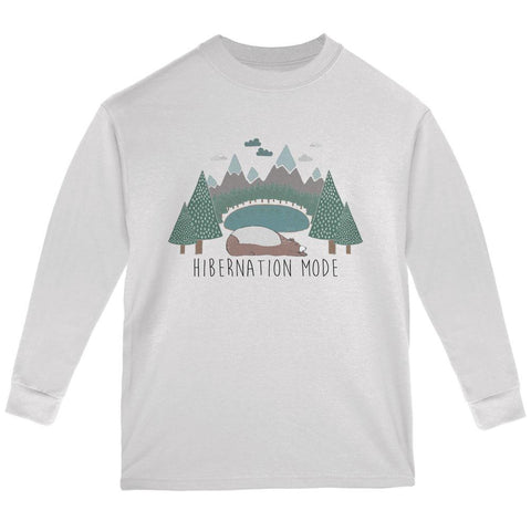 Autumn Bear Hibernation Mode Youth Long Sleeve T Shirt