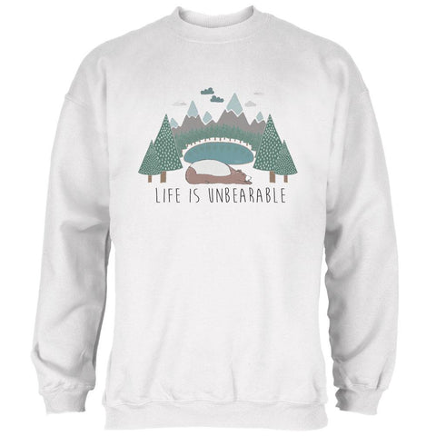 Autumn Life is Unbearable Bear Pun Mens Sweatshirt