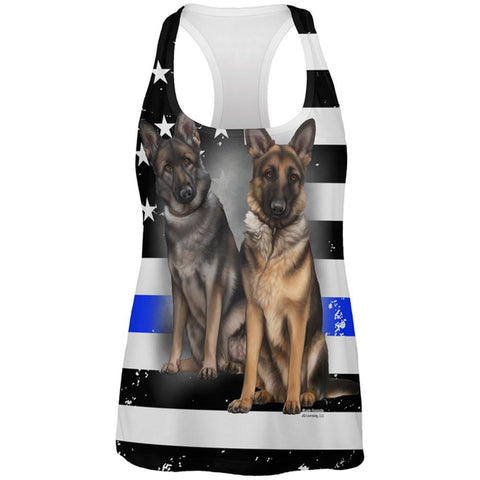Thin Blue Line K9 Unit German Shepherd Live Forever All Over Womens Work Out Tank Top