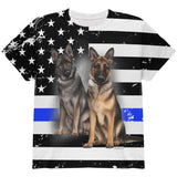 Thin Blue Line K9 Unit German Shepherd Live Forever All Over Youth T Shirt