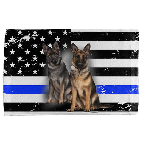 Thin Blue Line K9 Unit German Shepherd Live Forever All Over Hand Towel