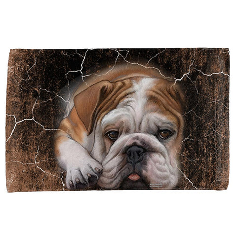 English Bulldog Live Forever All Over Hand Towel