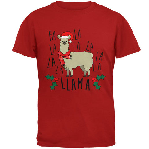 Christmas Fa La Llama Mens Soft T Shirt