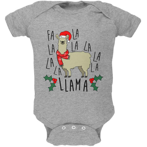 Christmas Fa La Llama Soft Baby One Piece