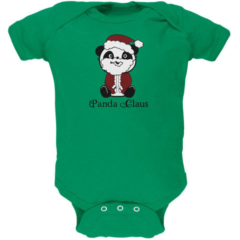 Christmas Panda Santa Claus Cute Soft Baby One Piece