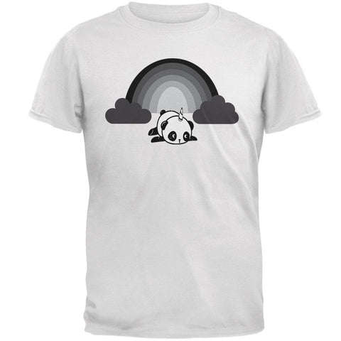 Panda Pandicorn Emo Sad Rainbow Mens Soft T Shirt