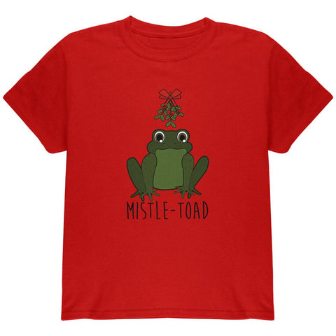 Christmas Mistletoe Toad Funny Pun Youth T Shirt