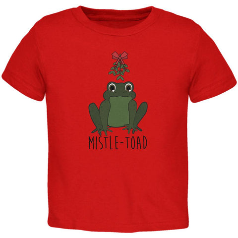 Christmas Mistletoe Toad Funny Pun Toddler T Shirt