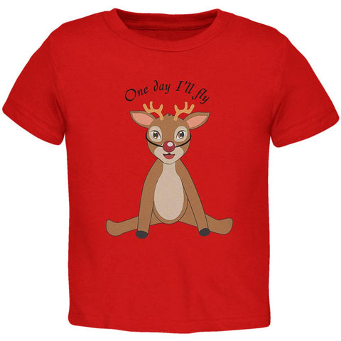 Christmas Baby Deer Fawn Toddler T Shirt