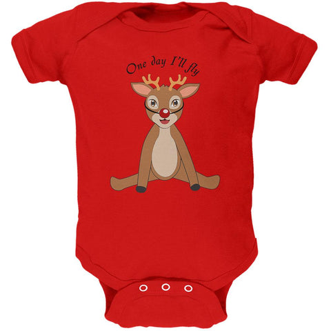 Christmas Baby Deer Fawn Soft Baby One Piece