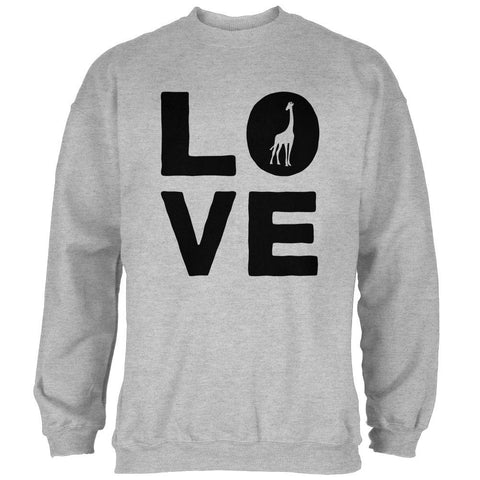 Giraffe Love Mens Sweatshirt