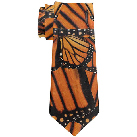 Monarch Butterflies All Over Neck Tie