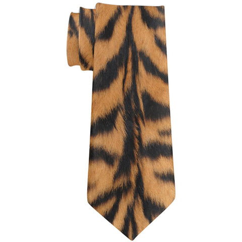 Bengal Tiger Stripes All Over Neck Tie