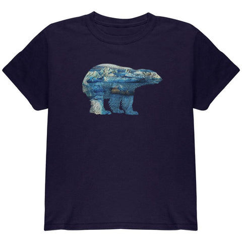 Polar Bear Iceberg Snow Caps Youth T Shirt