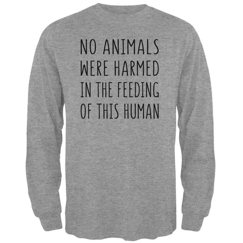 Activist No Animals Were Harmed in the Feeding of this Human Mens Long Sleeve T Shirt
