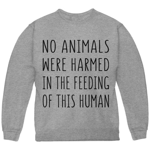 Activist No Animals Were Harmed in the Feeding of this Human Youth Sweatshirt