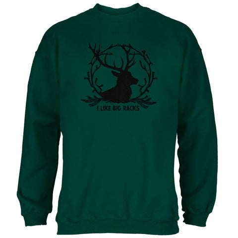 Buck Deer I Like Big Racks Funny Pun Mens Sweatshirt