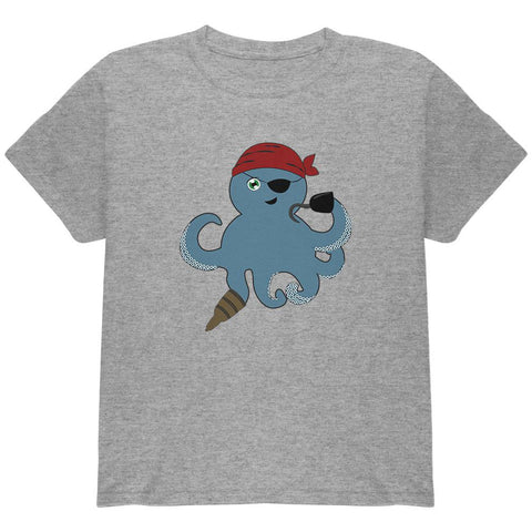 Cute Pirate Octopus Youth T Shirt