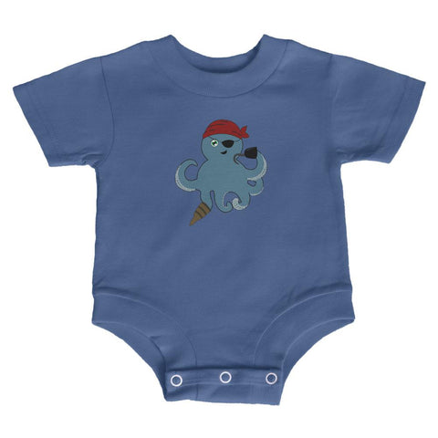 Cute Pirate Octopus Soft Baby Crewneck One Piece