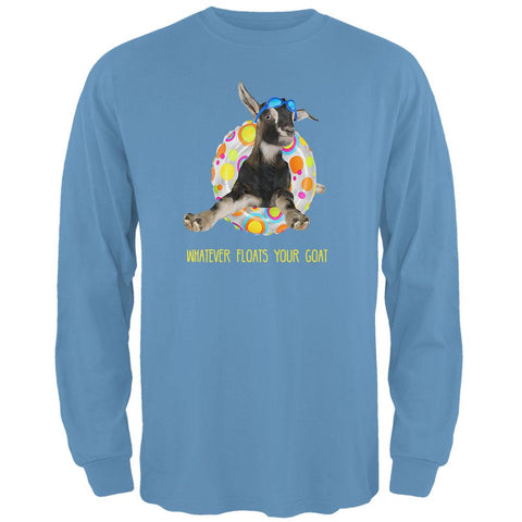 Whatever Floats Your Goat Boat Funny Mens Long Sleeve T Shirt