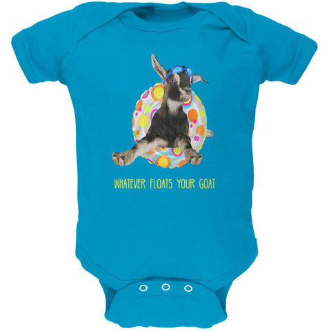Whatever Floats Your Goat Boat Funny Soft Baby One Piece