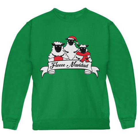 Christmas Sheep Feliz Fleece Navidad Youth Sweatshirt