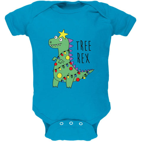 Christmas Tree Rex T-Rex Funny Dinosaur Soft Baby One Piece
