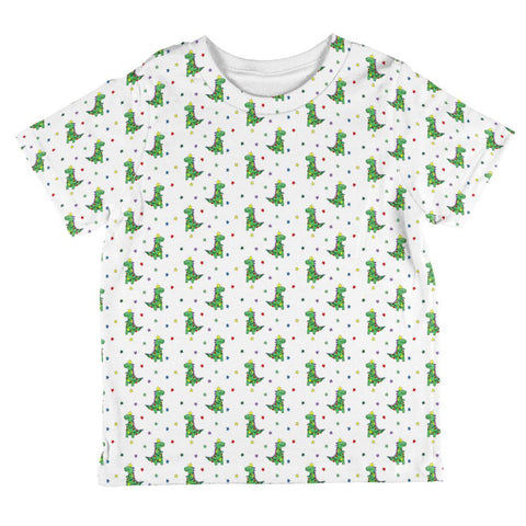 Christmas Tree Rex T-Rex Dinosaur Pattern All Over Toddler T Shirt