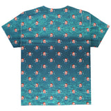 Christmas Caroling Jellyfish Pattern All Over Youth T Shirt