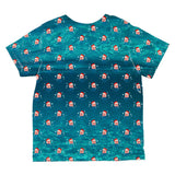 Christmas Caroling Jellyfish Pattern All Over Toddler T Shirt