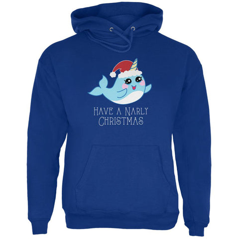 Narwhal Have a Narly Gnarly Christmas Mens Hoodie