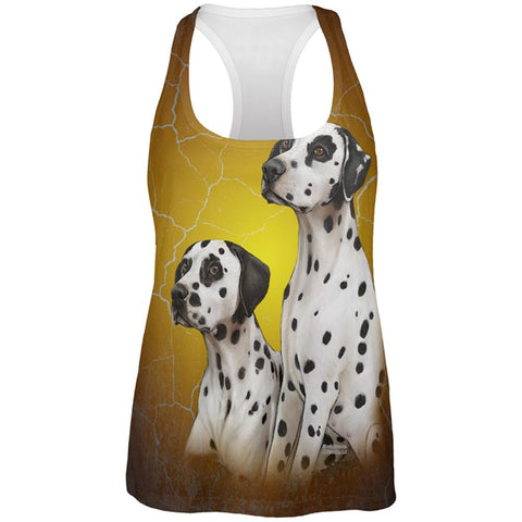 Dalmatians Live Forever All Over Womens Work Out Tank Top