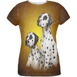Dalmatians Live Forever All Over Womens T Shirt