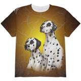 Dalmatians Live Forever All Over Youth T Shirt