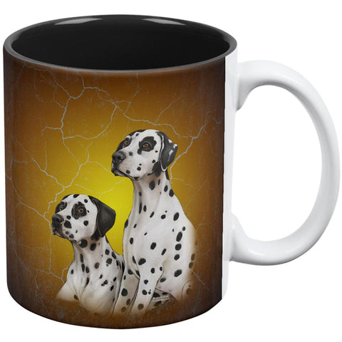 Dalmatians Live Forever All Over Coffee Mug