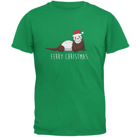 Ferry Merry Christmas Ferret Mens T Shirt
