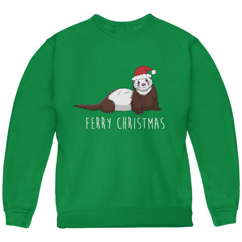 Ferry Merry Christmas Ferret Youth Sweatshirt