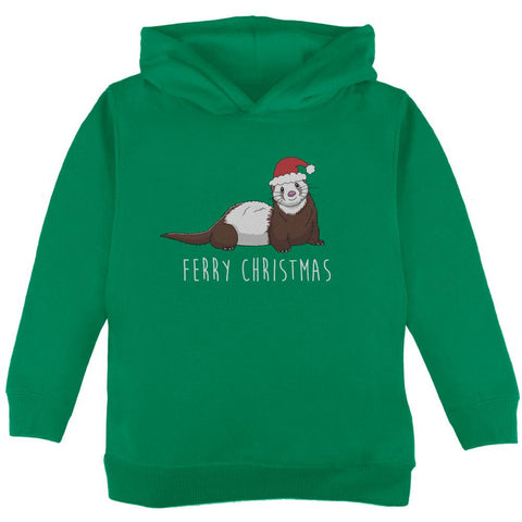 Ferry Merry Christmas Ferret Toddler Hoodie