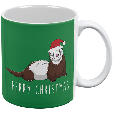 Ferry Merry Christmas Ferret All Over Coffee Mug