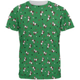 Retro Ferry Merry Christmas Ferret Pattern All Over Mens T Shirt