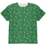Retro Ferry Merry Christmas Ferret Pattern All Over Youth T Shirt