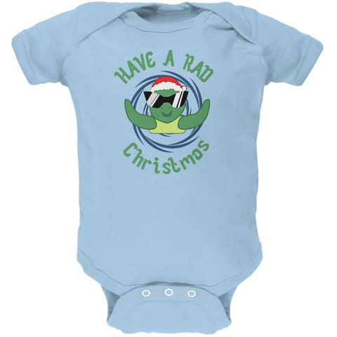 Christmas Sea Turtle Have a Rad Christmas Soft Baby One Piece