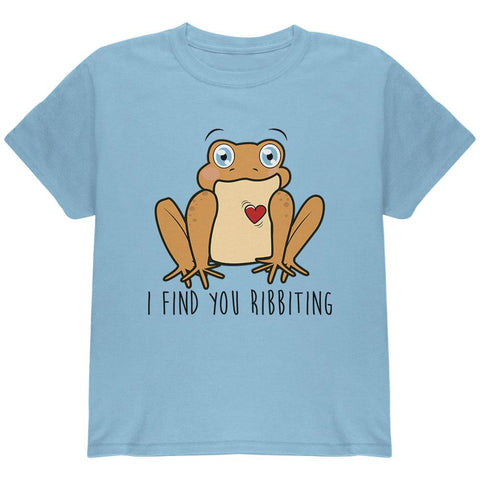 Toad I Find You Riveting Funny Pun Valentine's Day Youth T Shirt