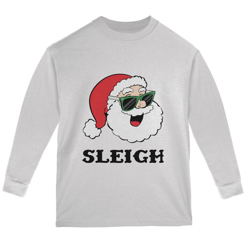 Christmas Santa Sunglasses Sleigh Slay Youth Long Sleeve T Shirt